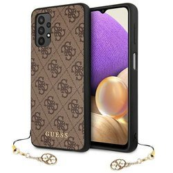 ETUI GUESS 4G CHARMS COLLECTION SAMSUNG GALAXY A32 LTE (BRĄZOWY)