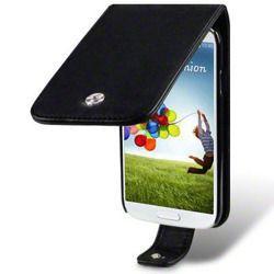 Etu Terrapin do Samsung i9500 Galaxy S4  skórzane  -  czarny