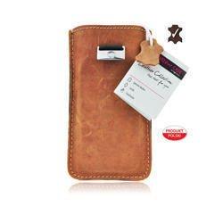 Futerał Skórzany Forcell Slim Premium Samsung Galaxy S2/ Ace 4/ Trend - brązowy