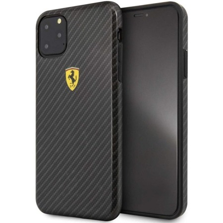 ETUI FERRARI ON TRUCK RACING SHIELD HARDCASE - IPHONE 11 PRO (CARBON EFFECT/BLACK)