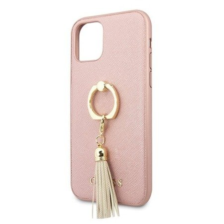 ETUI GUESS SAFFINO DO IPHONE 11 PRO, HARDCASE PINK