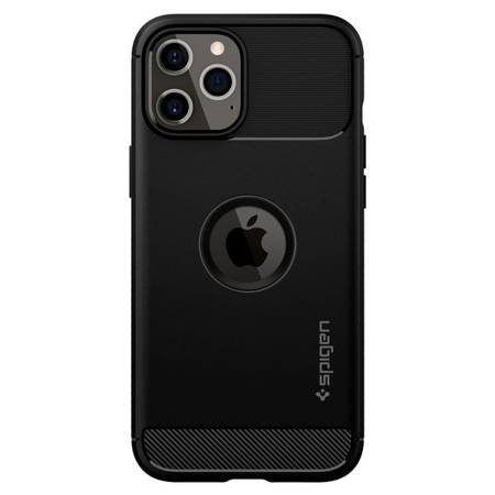 ETUI SPIGEN RUGGED ARMOR IPHONE 12/12 PRO MATTE BLACK