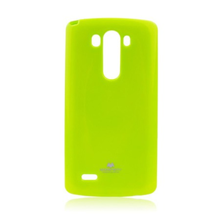 Etui Goospery Jelly Mercury do LG G3 gumowe - limonkowe