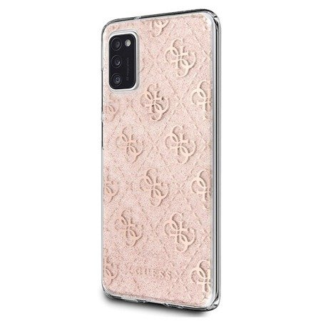 Etui Guess Glitter Do Galaxy A41, Hardcase, Pink