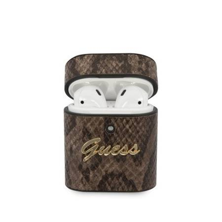 Etui Guess Python Collection Do AirPods, Brązowy