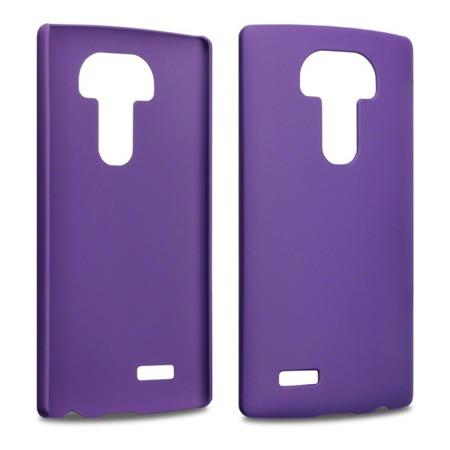 Etui Terrapin do LG G4 sztywne hybrydowe - fioletowe