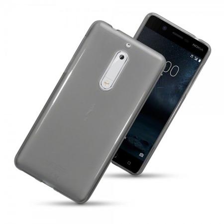Etui Terrapin do Nokia 5  żelowe - ciemno przeźroczyste