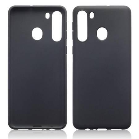 Etui Terrapin do Samsung Galaxy A21s żelowe czarne matowe