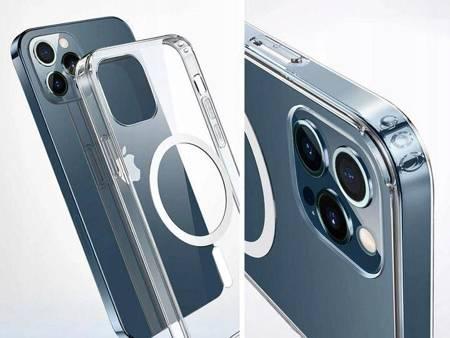 Etui magnetyczne MagSafe do iPhone 12 Pro Max - przeźroczyste