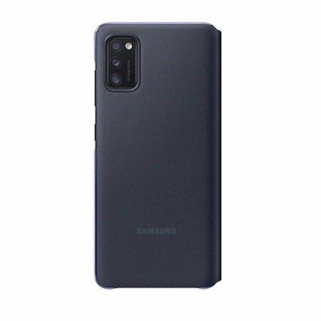 Etui oryginalne EF-EA415PB Samsung S View Wallet Cover Black - Samsung Galaxy A41 - Czarny