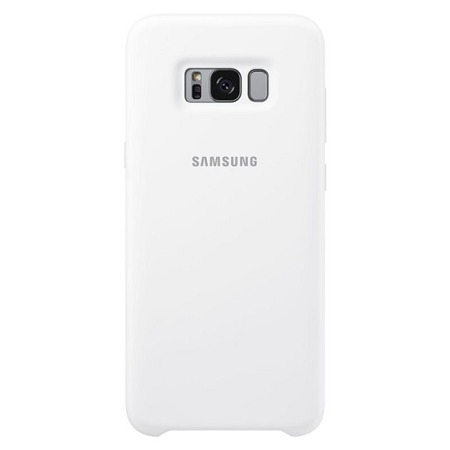 Etui oryginalne Samsung Galaxy S8+ Silicone Cover - białe