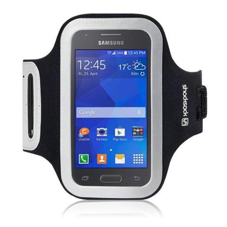 Etui sportowe Shocksock do Samsung Galaxy Ace 4 odblaskowe - czarny