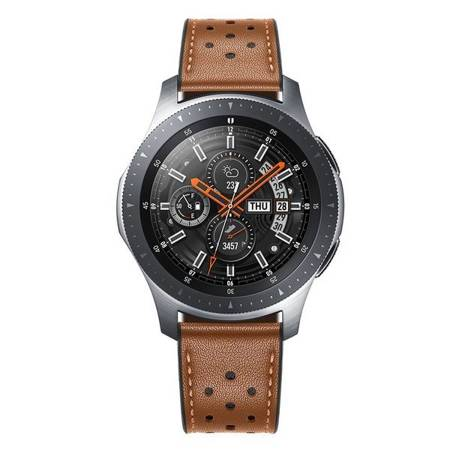 PASEK TECH-PROTECT LEATHER SAMSUNG GALAXY WATCH 3 45MM BROWN